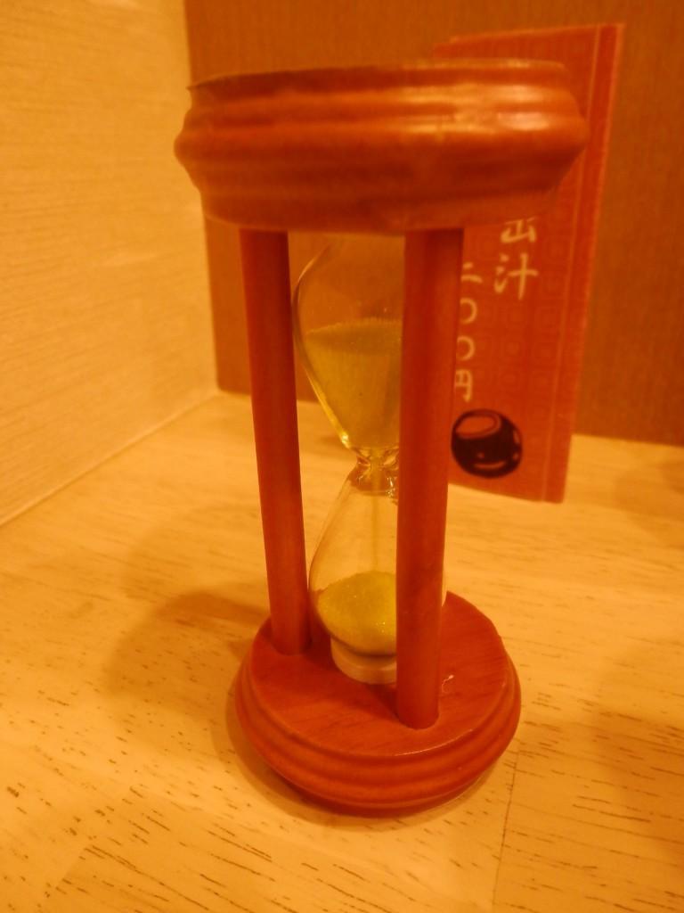 つきじ芳野吉弥砂時計