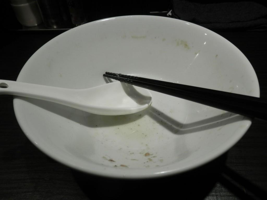伊藤銀座店-肉そば中 完食