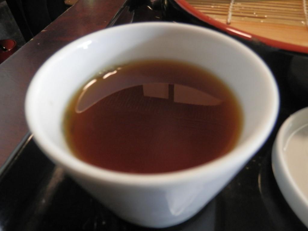 神田まつや 蕎麦湯割り